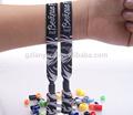 barato personalizado tecido de poliéster charme pulseiras pulseira do braço
