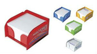 colored acrylic note paper holder cube boxes