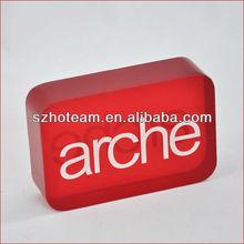 acrylic logo display