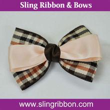 "3.5"" Lady Plain Ribbon Hair Barrette"