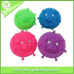 "Good selling 5"" 12-PK monkey,animal puffer ball toy"