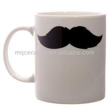 10oz Real Bone china Mug with moustache
