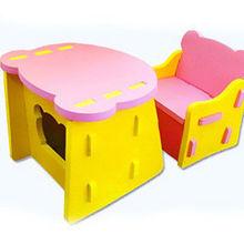 Nuevo estilo de la historieta del bebé de mesa y silla de niño lindo de los niños de la silla eva