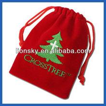 Custom OEM Large velvet bags for gift package