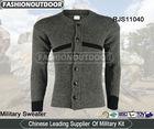 Military wool cardigan mens slim long sleeve sweater