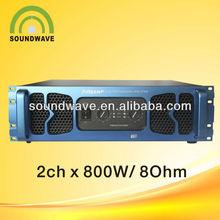 Best quality China 800W/8ohm tube pro subwoofer amplifier/F800/disco dj guitar karaoke amplifier