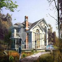 light steel green house villa project