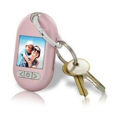 Gear Head 1.5 LCD Digital Photo Frame Keychain, Pink
