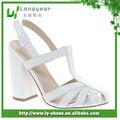 dame chaussures habillées sandales talon blanc chunky