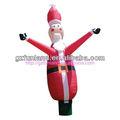 Nuevo estilo de santa inflable bailarín del aire/navidad bailarín del aire para la promoción