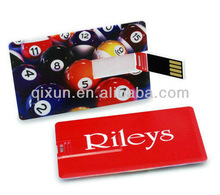 both sides colorful logo card usb flash memory, card 1gb usb flash drive