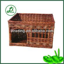 handicrafted wicker pet bed