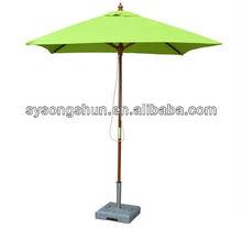Wood/Steel/Aluminium Outdoor Square Garden parasol umbrella