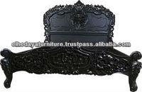 Black rococo Bed