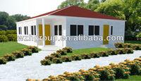 Prefab Steel Villa Prefab House, Customized Home, Lightweight Steel Structure