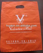 LDPE die cut handle shopping bags /gift bags