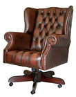 Classic Wing Chesterfield Swivel Chair