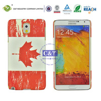 C&T national flag printing unique phone case for samsung galaxy note 3