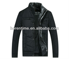 winter band collar padding jacket for man