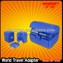 World travel international adapter power plug with CE&ROHS