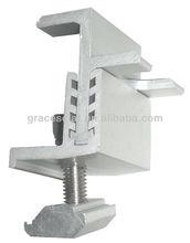 Solar adjustable tilt mounting system front leg