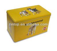 Tintop pet food tin / tintop tin for dog / tin container