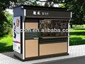 Bkh-43 acero al aire libre quiosco de muebles personalizados para la revista y newsstand