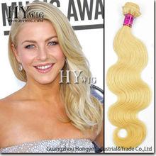 hot selling 100% peruvian human blonde hair extension