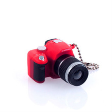 Mini Camera Key Chain with flash-Red