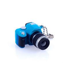 Mini Camera Key Chain with flash-Blue
