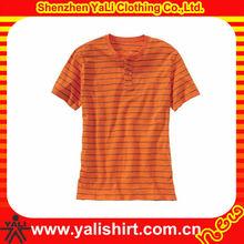 OEM top quality comfort button neck short sleeve cotton fit men eco-friendly fringe t shirt