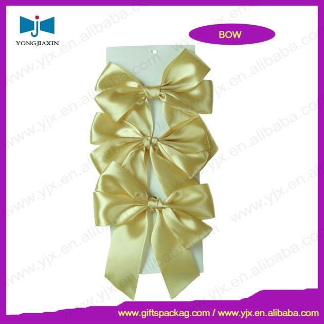 gift wrap polyester satin bow wholesale