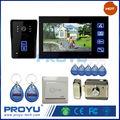 """Hot Waterproof 7 """" vídeo porteiro eletrônico com cartão RFID desbloqueio de monitoramento amplamente utilizado para Home Office apartamento PY-806MJID1102"""