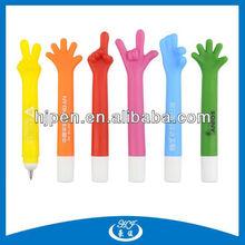 Cheap Novelty Plastic Ball Pens, Hand Finger Shaped Pen
