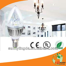 SLD-CL-3W E14 base 3w led candle light led candle light 3w candle led light 3w