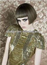 classic machine wig fashion short wig with fringe (bang) fashion short curl natural synthetic wig fashion