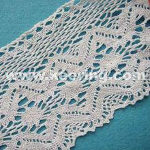 Fashion bridal white cotton crochet lace trim WLC-026