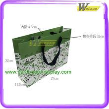 Custom graphic art paper bag, advertising shopping bag.