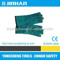 JINHUA JINHAN Brand Popular Design Green Long Leather Gloves,long suede leather gloves, welding gauntlet gloves S-1001