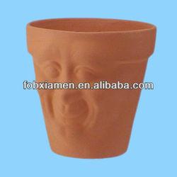 Terracotta face wholesale clay pots