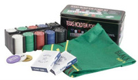 Poker Chips Set of 200 Chips and Cards