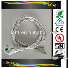 2013 newest hs code for power cable for steam iron