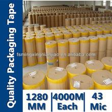 Bopp Self Adhesive Packing Tape Jumbo Rolls India Market