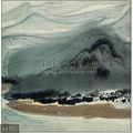 100% peint à la main chinois traditionnel art peinture de paysage huile sur toile par wu guan zhong, hill, arbres