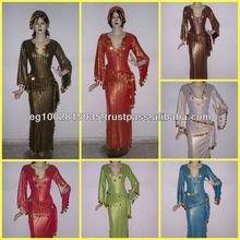 Egyptian belly dance baladi/saidi galabeya dress costume - hand decorated