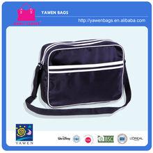 Wholesale/ cheap trendy Microfiber black&white patchwork office shoulder bag for man
