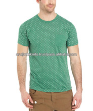 MEN'S DOT PRINTED T SHIRT WITH POCKET