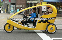 B&Y tricycle with sunshade 3 wheel electric tricycle Pedicab Rickshaw