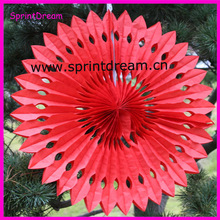 Solid Color! Hanging tissue paper fan