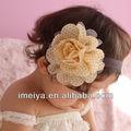 polka dot margarida flores de crochet headband